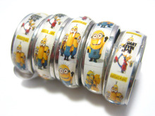 wholesale 50pcs mixed lot the minions stainless steel girls boys party cute cartoon rings(China (Mainland))