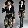 High Quality winter Embroidery Bandage Winter Coat For Woman Overcoat Loose coat