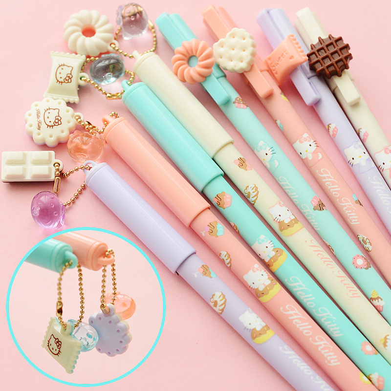 Гаджет  free ship 2014 New Cute Cat Caneta Kawaii Hello kitty Gel pen Stationery gift zakka Office supplies material school R3163 None Офисные и Школьные принадлежности