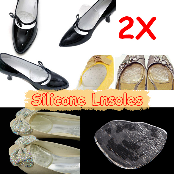 New Clear Gel Cushion Foot Pad Shoes Insoles 1 Pair(China (Mainland))