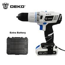 DEKO 18 V DC Nuevo Diseño de fuente de Alimentación Móvil De La Batería de Litio Taladro Atornillador de Impacto Con batería Adicional y BMC