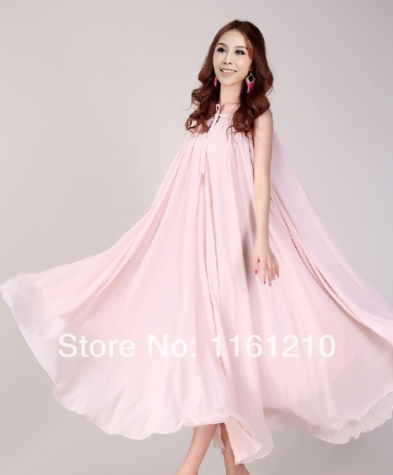 Summer holiday beach dress beach wedding party guest for Wedding guest pregnancy dresses