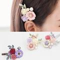 Hot Sale Fashion Women Girls Crystal Rhinestone Flowers Hair Clip Beauty Hairpin Barrette Head Ornaments Hair