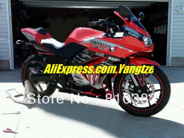 2013 Favorite Red Fairing for KAWASAKI Ninja ZX250R 08-12 ZX-250R 2008-2012 ZX 250R EX250 08 09 10 11 12 2008 2012 body kit(China (Mainland))