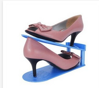 10 pieces Shoes Rack Shoes Organizer Space Saving Shoes Stand Shelf Shoe Storage Holder Adjustable Magic 2 Layers(China (Mainland))