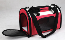 Portable Puppy Dog Cat Tote Carry Carrier House Pet Cage Travel Bag M L(China (Mainland))