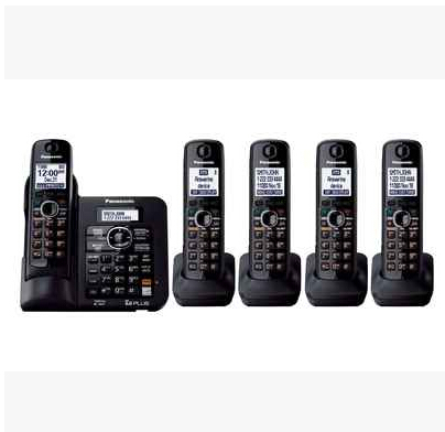 KX-TG 6641B DECT 6.0 Expandable Digital Cordless Phone 5 Handsets Answering System with a Dual Keypad Wireless Home Telephone(China (Mainland))