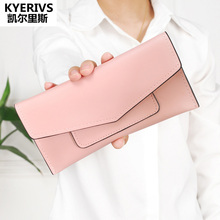 Buy Brand PU Leather Women Wallet Long Thin Purses Cowhide Multiple Cards Holder Clutch Bag Fashion Wallet Female Coin Purse Clutch for $4.47 in AliExpress store