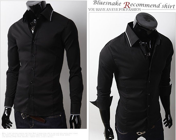 Casual Black Button Down Shirt | Is Shirt
