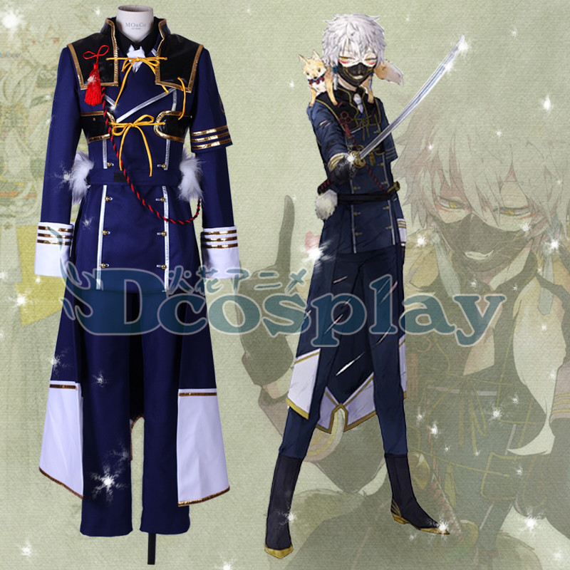 The Sword Dance Touken Ranbu Nakigitsune Uniform Suit With Mask Cosplay CostumeОдежда и ак�е��уары<br><br><br>Aliexpress
