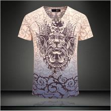 2015 fashion top men summer T shirt sports casual clothing brand T-shirt men's short sleeve Tops Tees Slim Stretch