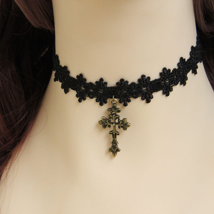 Vintage Bohemia Gothic Choker Necklace Collar Women Jewelry Accessories Fashion Black Lace Party Necklaces 2015 Brand JL-169(China (Mainland))