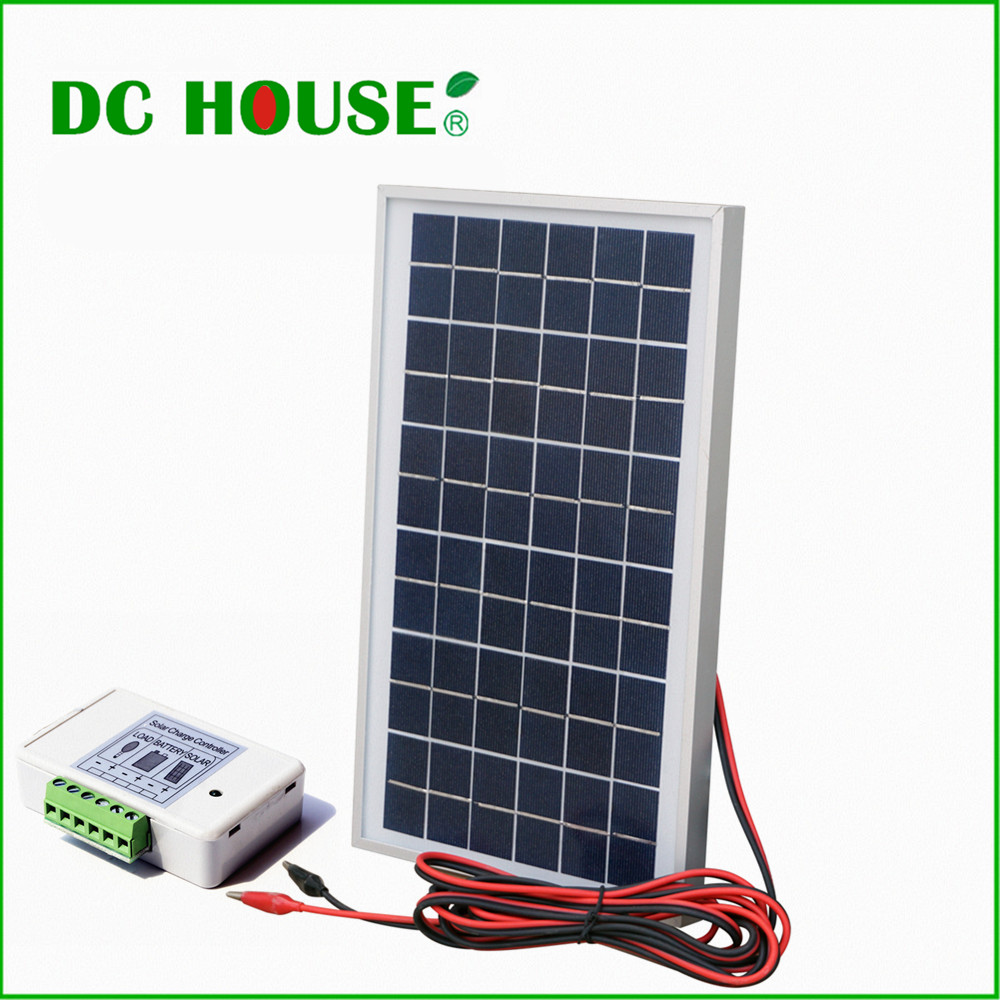 UK Stock 10w 12V Polycrystalline Solar Panel Complete Kit 10W Poly Solar Panel+3A Controller +Battery Clips(China (Mainland))