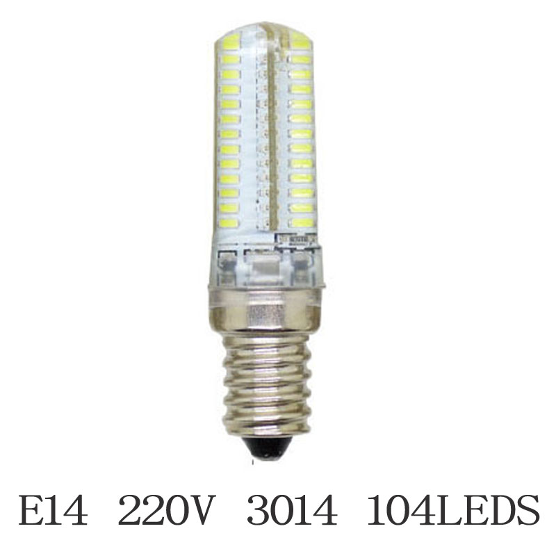 Newest Mini E14 Dimmable LED Crystal Chandelier Lamps SMD3014 2835 Silicone Light AC220V 3W-15W LED Corn Bulb Pendant Spotlight(China (Mainland))