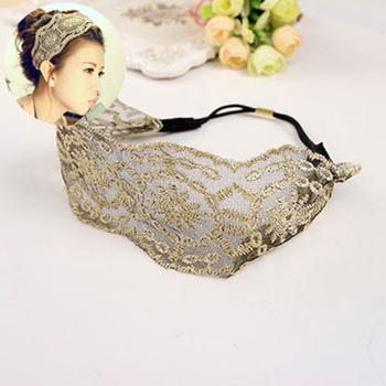 Lace Flower Elastic Headband