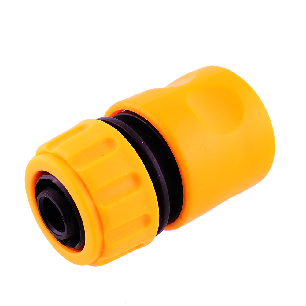New Hot Useful Yellow Water Hose Pipe Connector Tubing Fittings Watering Garden Accessories Hose Repair(China (Mainland))