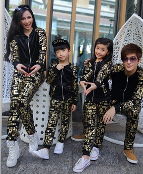 Autumn and winter 2015 autumn winter spring active pants mother and daughter clothes matching family clothing sets family look