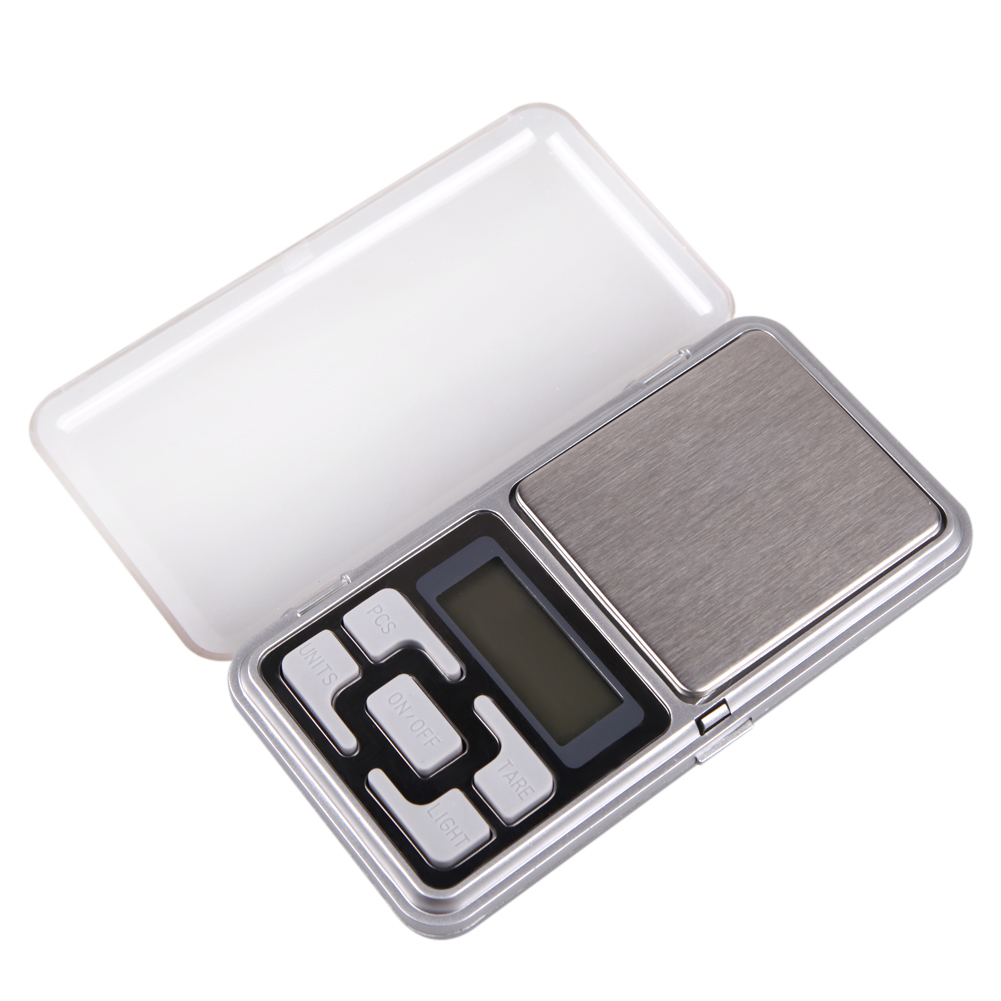 Portable 200g x 0.01g Mini Digital Scale Jewelry Pocket Balance Weight LCD Display Blue Backlight Precise Weighing