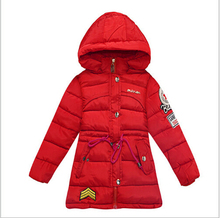 Children clothing winter Girls cotton-padded clothes new 2015 baby down jacket Thicken long Winter jacket Kids outerwear coat