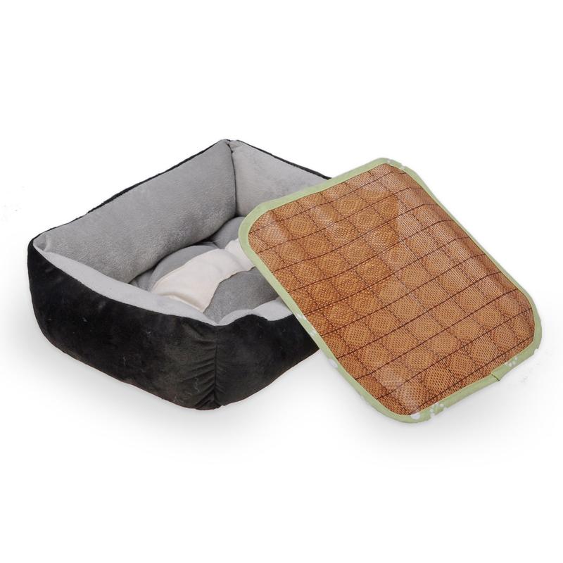 Pet Dog Rattan Mat Folding Portable Summer Cool Dog Cat Bed(China (Mainland))