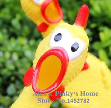 Pet Toy Dog Shrieking Chicken Crazy Chicken Screaming Pet Sound Toys Toys For Big Dogs(China (Mainland))
