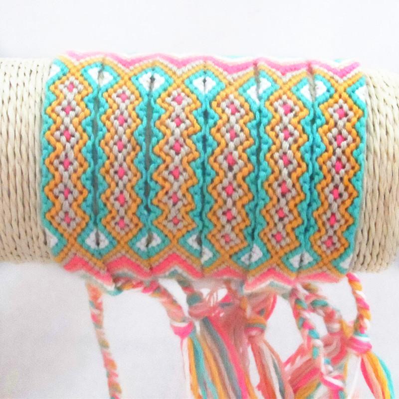 Cotton String Bracelets Friendship Bracelets Handmade Bracelet Colors Braided Friendship Bracelets(China (Mainland))