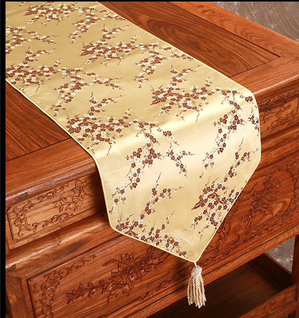 Elegant Cherry blossoms Table Runner Dining Protective  : Elegant Cherry blossoms Table Runner Dining Protective Mats Silk Brocade Rectangular Cover Cloth Table cloth Wedding from www.aliexpress.com size 600 x 638 jpeg 187kB