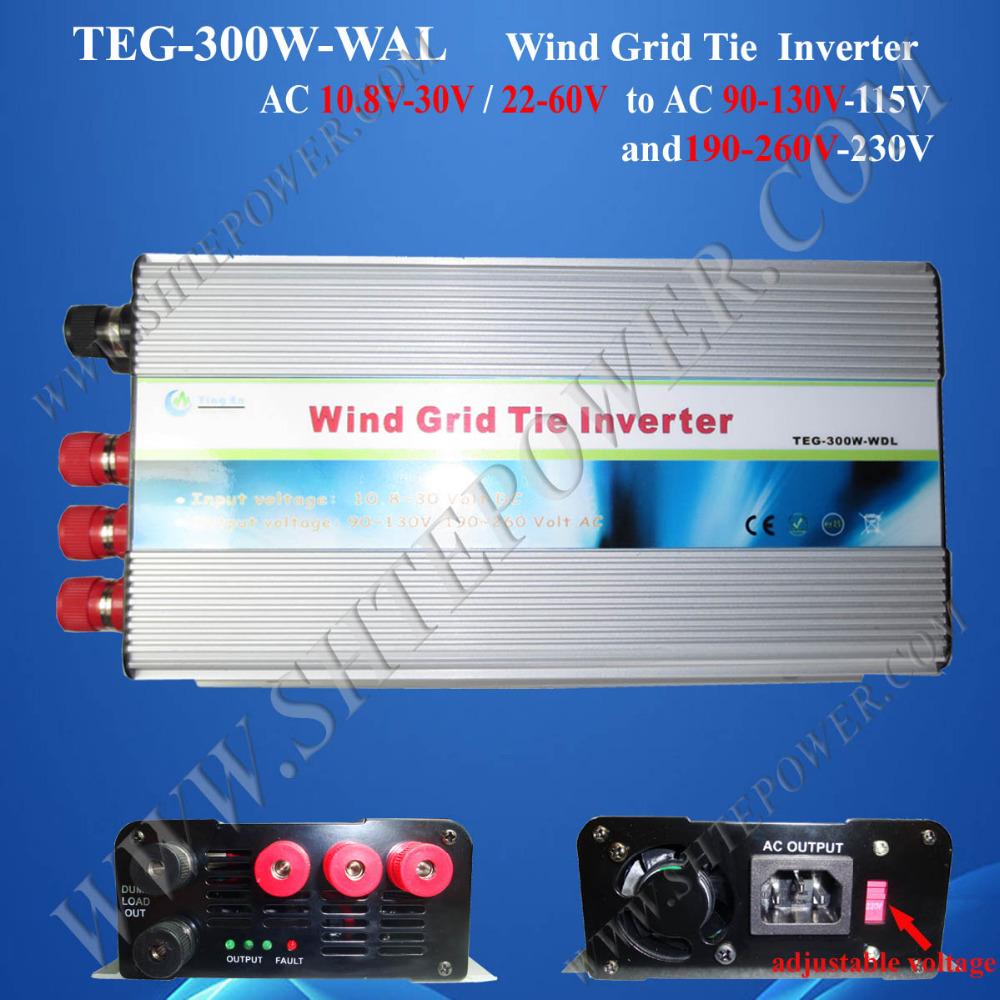 2016 best grid tie inverter 300w, grid tie inverter for wind turbine generator, ac 24v to 220v ac inverter pure sine(China (Mainland))
