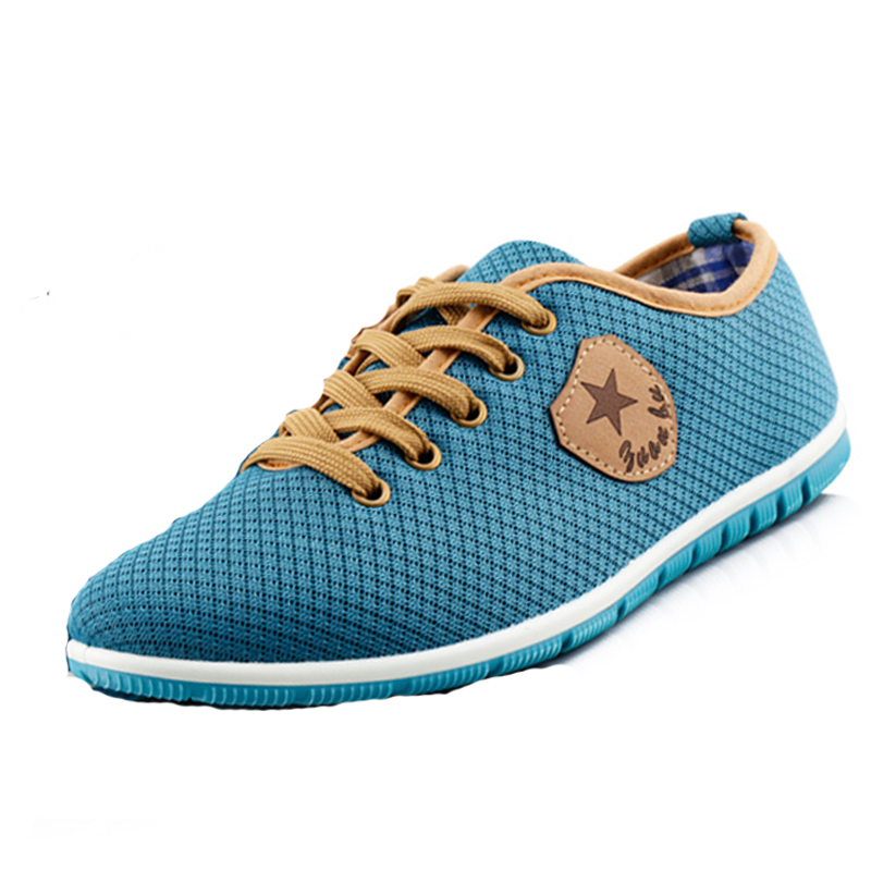 Free Shipping Summer Men air breathing Mesh shoes light soft unisex comfortable Flats Women Sports shoes casual shoes sneakers(China (Mainland))