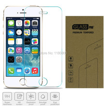 5S Explosion-proof Tempered Glass Screen Protector For Apple iPhone 5 5G 5S Premium Screen Anti Shatter Protector Film