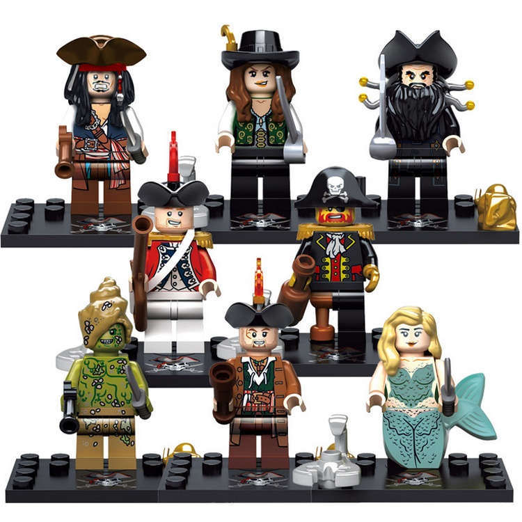 XSZ LEGO compatible minifigures 518 Pirates of the Caribbean people assembling children's educational toy building blocks model(China (Mainland))