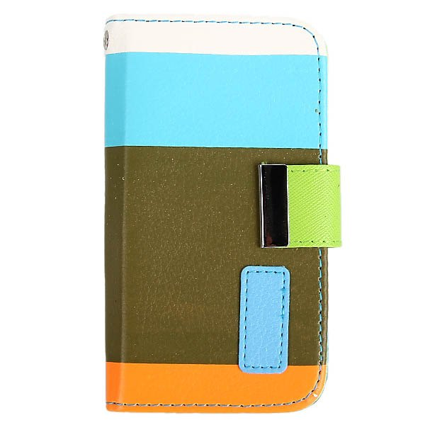 Painting Series Colorful PU Leather Wallet Design Case Cover with Stand for iPhone 4 / 4S Hot Trendy Knockproof Phone Back Shell(China (Mainland))
