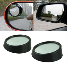 1 pair New Driver Safety Car mirror Wide Angle Round Convex Blind Spot mirror for parking Rear view mirror Rain Shade(China (Mainland))