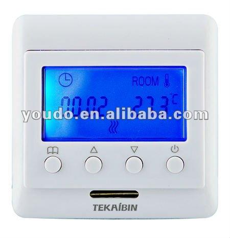digital thermostat 16A + buit & floor sensor heating temperature control - Yueqing Youdo Trade Co.,ltd store
