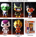 NEW Genuine FUNKO POP 10cm Dragon Ball Goku Vegeta cell Felisaz piccolo action figure Bobble Head