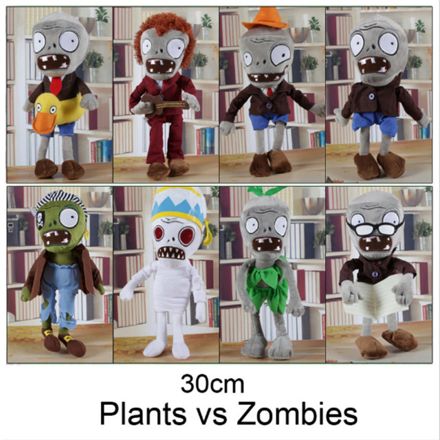 NEW ARRIVAL 30CM 12'' Plants vs Zombies Soft Plush Toy Doll Game Figure Statue Baby Toy for Children Gifts  HT3031