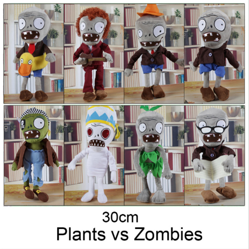 NEW ARRIVAL 30CM 12'' Plants vs Zombies Soft Plush Toy Doll Game Figure Statue Baby Toy for Children Gifts HT3031(China (Mainland))