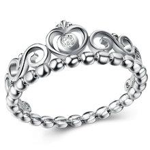 แฟชั่นคริสตัลแหวนผู้หญิงดอกไม้หัวใจรักมงกุฎแหวนค็อกเทล Part ยี่ห้อแหวน(China)