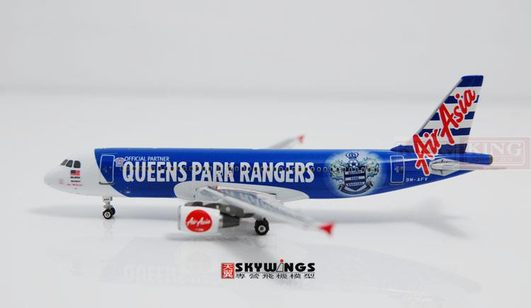 Phoenix 10685 Asian aviation 9M-AFV Queens Park Rangers A320 1:400 commercial jetliners plane model hobby