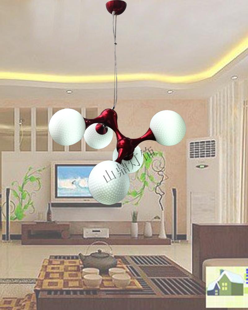 Modern pendant light lamp 9 7 5 3 dna pendant light white round ball bowling pendant light dining room pendant light(China (Mainland))