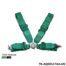 "1 Set Black / Green 3"" 4 POINTS Car Seat Belt with FIA 2020  /Harness/Racing Safety Seat Belt TK-AQD011TA4(China (Mainland))"