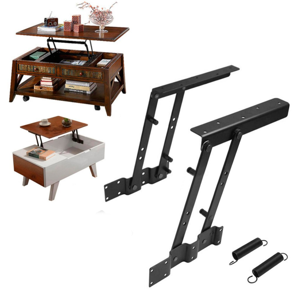 1Pair Multi-functional Lift Up Top Coffee Table Lifting Frame Mechanism Spring Hinge Hardware(China (Mainland))