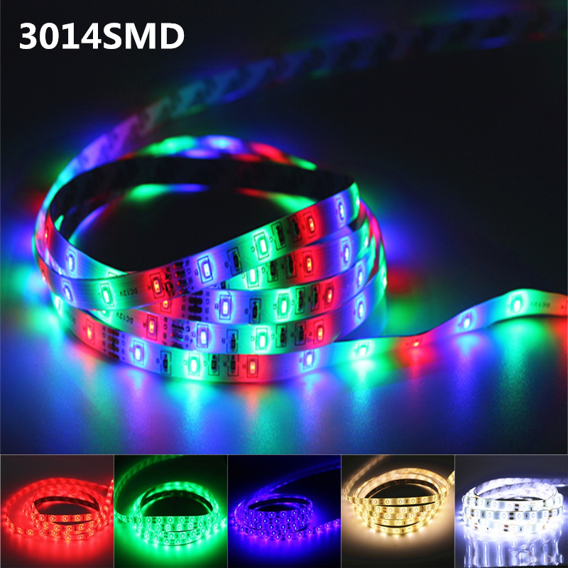 1/2/3/4/5M DC12V LED Strip Light 3014 SMD RGB Led Tape ip20/ip65 Waterproof Led Stripe Bar Light String Holiday Decoration Light(China (Mainland))