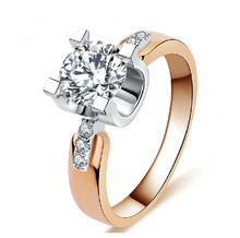 Rose gold filled Wedding Rings For Women Engagement Jewelry Vintage ring zirconia Accessories S925 MSR
