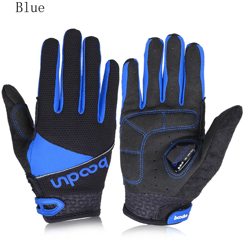 Breathable windproof full finger cycling gloves silicone shockproof bicycle hiking running bike outdoor sports camping gloves