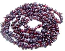 SALE Long 34″  6-7mm baroque natural garnet gemstone Beads necklace-nec5614 Wholesale/retail Free shipping