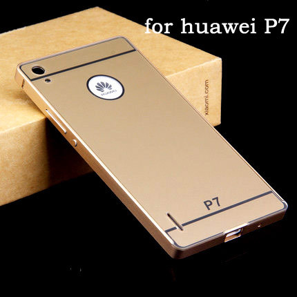 NEW Huawei ascend p7 Case Luxury slim Aluminum Frame PC Back Cover mobile phone Covers Protective Case For huawei p7(China (Mainland))
