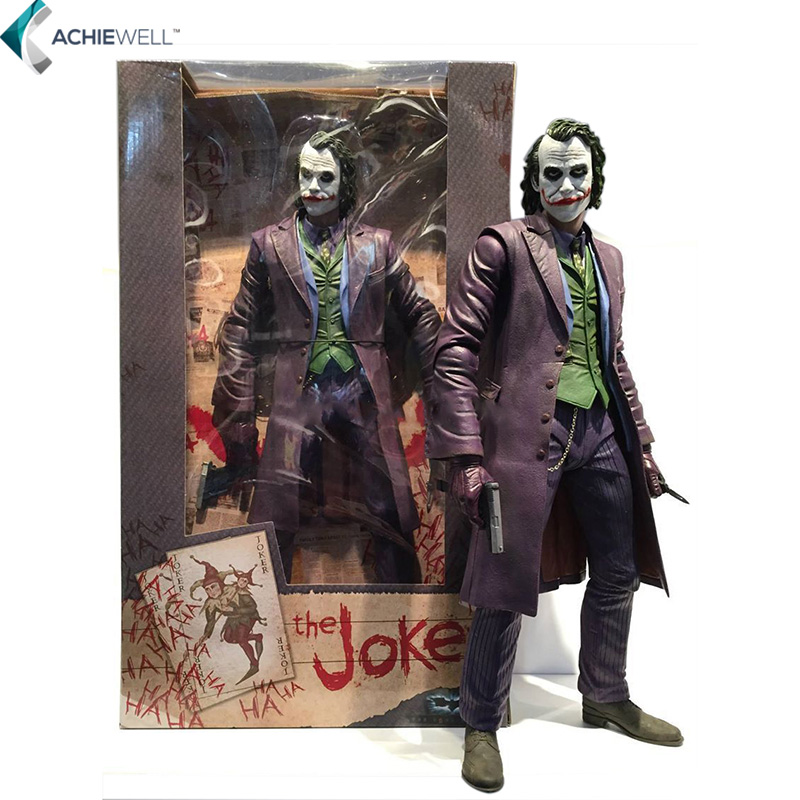 """NECA Batman The Dark Knight The Joker 1/4 Scale PVC Action Figure Collectible Toy 16"""" 48CM EMS Free Shipping MVFG240(China (Mainland))"""