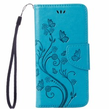 Vintage PU Leather Wallet Case for iPhone 7 4.7″ Butterfly Flowers Pattern Retro Phone Cover with Stander Card Slots