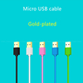 Gold plated Micro USB Cable Data Sync charger Fast charging short 13cm 1m 2m 3m Android